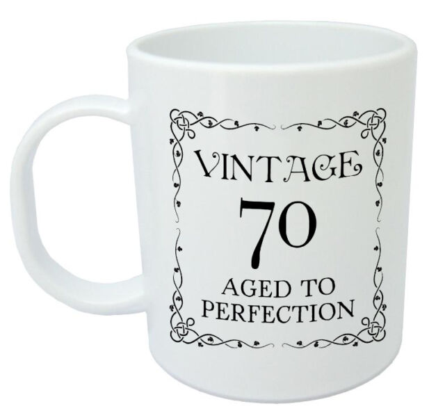 Vintage 70 Mug 70th Birthday Gift Presents For Men Women Ideas