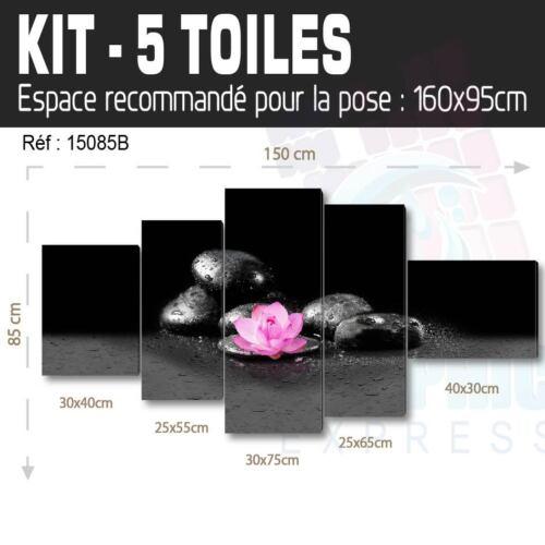 TABLEAU LOTUS ROSE TOILE IMPRIMEE 58 MODELES IMPRIMEE ZN17 ORCHIDEE