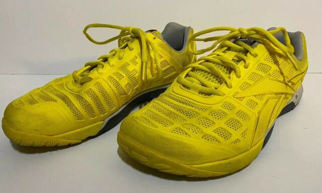 Reebok Men's Size 10 Crossfit Nano 4.0 CF74 Black Yellow Training Shoes FastShip