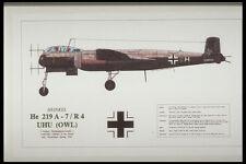 419034 Heinkel He 219 A 7 R4 UHU OWL A4 Photo Print