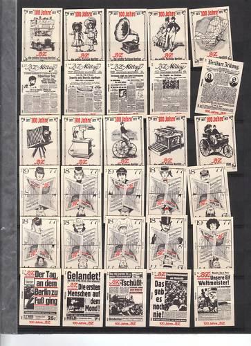 Série étiquettes Allumettes Allemagne Journal