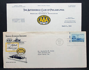 US-AAA-Cover-FDC-Chicago-Automobile-Association-Stamp-USA-First-Day-H-7306