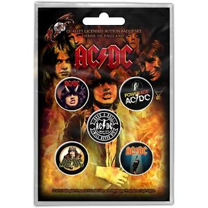 Official-Licensed-Merch-5-BADGE-PACK-Metal-Pin-Badges-AC-DC-Highway-to-Hell