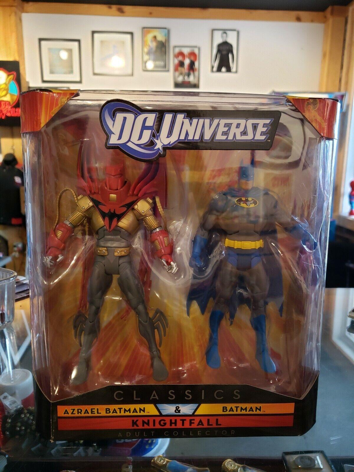 DC UNIVERSE CLASSICS KNIGHTFALL AZRAEL BATMAN & BATMAN ACTION FIGURE SET