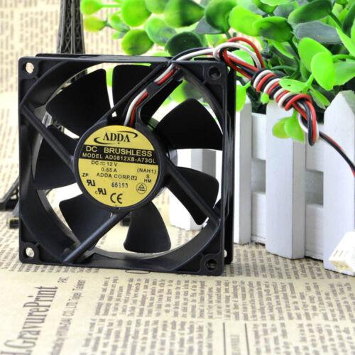 AD0812XB-A73GL 80mm 25mm New Case Fan 12V IP55 Waterproof 67CFM Cooling Ball
