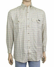 NEW National Geographic Mens Tattersall Plaid Button-down Travel Shirt Large