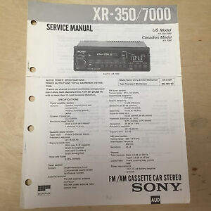 Sony-Service-Manual-for-the-XR-350-7000-Cassette-Player-Radio-Car-Stereo-Repair