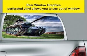 Window-Graphic-Tint-Truck-Jeep-SUV-Army-Fighter-Tanks-Sticker-924