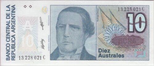 Argentina Banknote P325b Col 699e 10 Australes Scarce UNC Sig Salama-Machinea