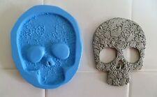 Stampo in Silicone Teschio in rilievo per decorazioni per torta, cioccolato, argilla ecc.