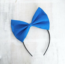 Royal blue bow headband Nautical - Pin up - Sailor - Ariel