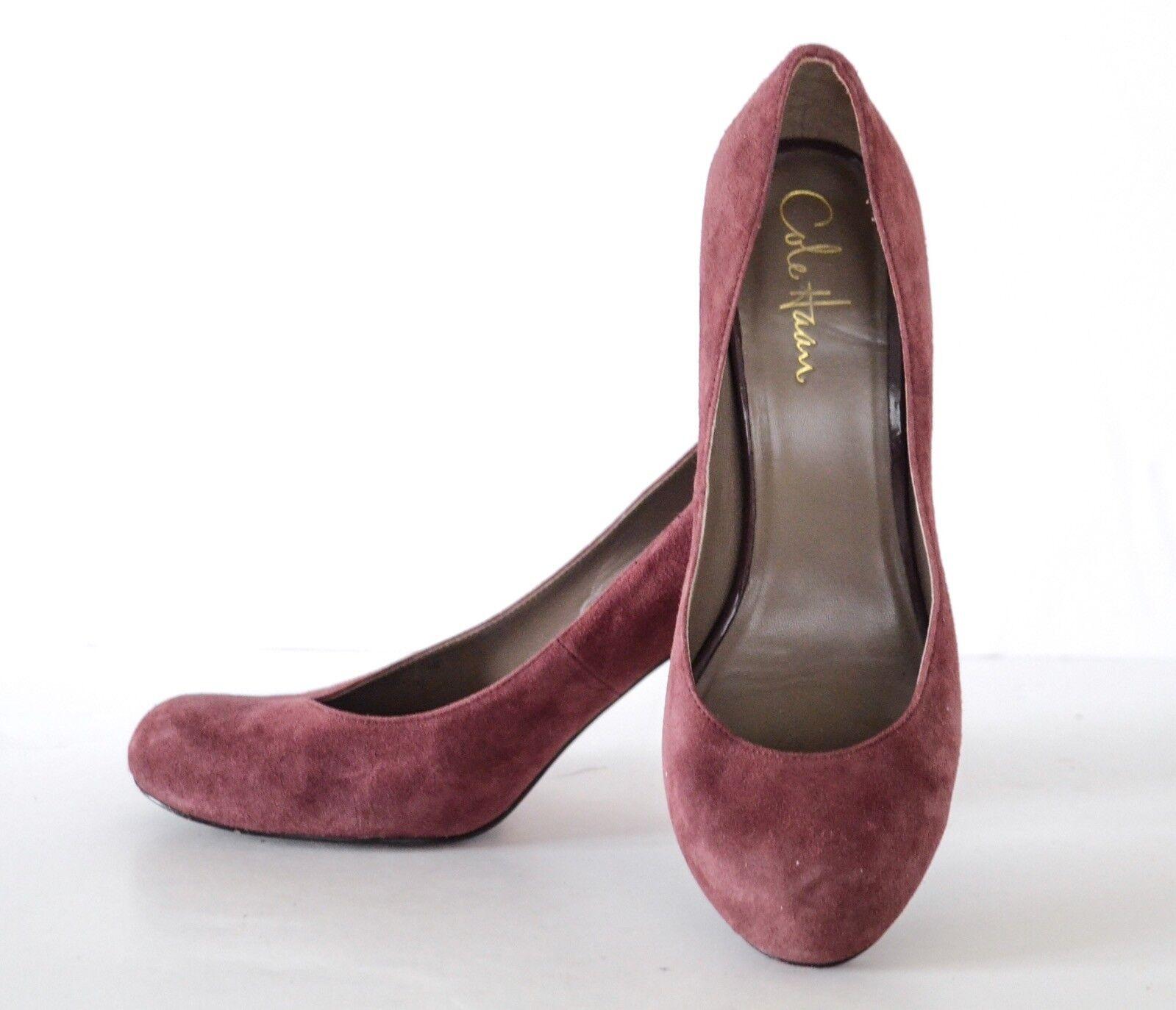 Cole Haan Haan Haan Plum Suede High Heels Pumps Schuhes 7.5B a75619