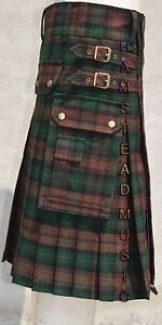 Amical Scottish Highland Wears Active Men Brown Watch Tartan Modern Sports Prime Kilts AgréAble Au Palais