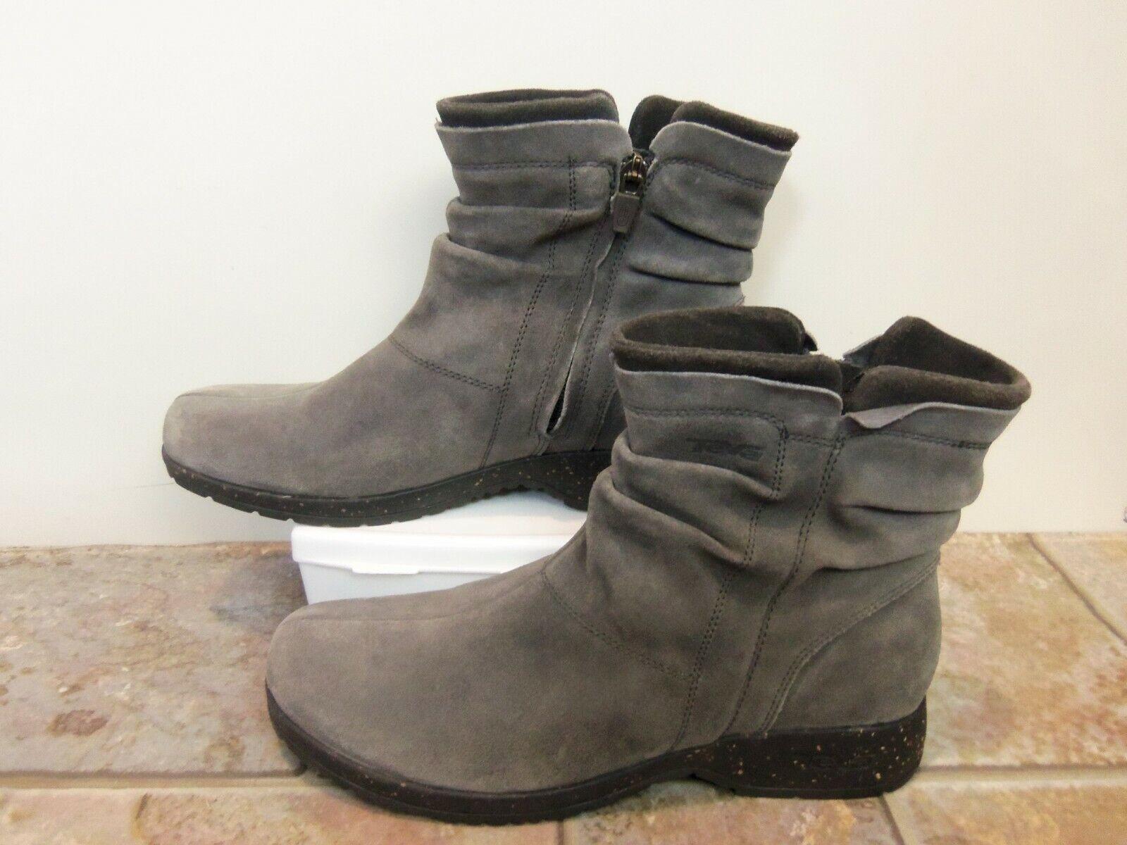 Teva Capistrano gris Mitad de Pantorrilla botas De Cuero De Gamuza 9.5 M Nuevo