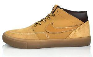 una tazza di diagonale Serena  Nike SB Portmore II Solarsoft Mid-Top Sneaker AJ6978-779 Wheat Brown Men  Size 9 | eBay