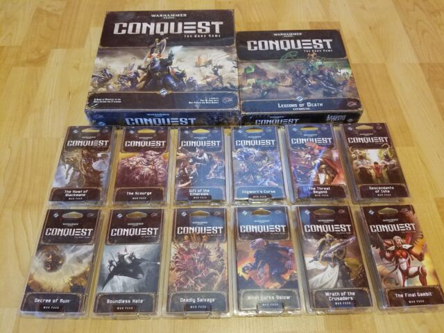 Conquest Card Game LCG 40,000 60 cards Warhammer 40k The Final Gambit War Pack