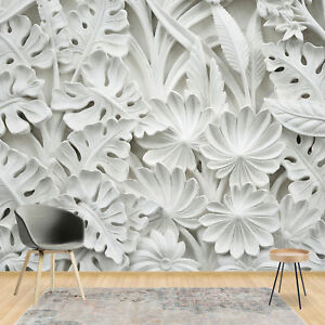 Details About Wall Mural Wallpaper 3d White Abstract Living Room Photo Wallpaper 20070v8