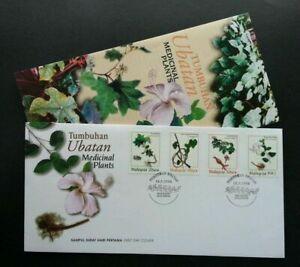 SJ-Malaysia-Medicinal-Plants-1998-Flower-Flora-Leaf-stamp-FDC