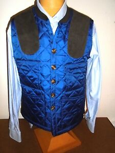 Southern-Proper-Quilted-Jefferson-Shooting-Vest-NWT-Large-Navy-Blue