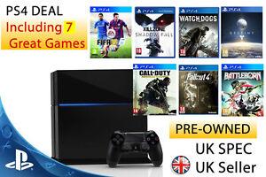 Playstation-4-Konsole-500gb-ps4-7-Spiele-Bundle-PAL-UK-FIFA-amp-Destiny
