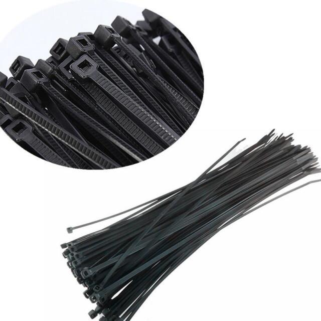 100pcs Black 3x100mm Network Nylon Plastic Cable Wire Zip Tie Cord Strap HOAU