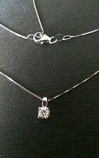 collier girocollo punto luce oro bianco 18kt diamante 0,10 ct IF  VERO AFFARE