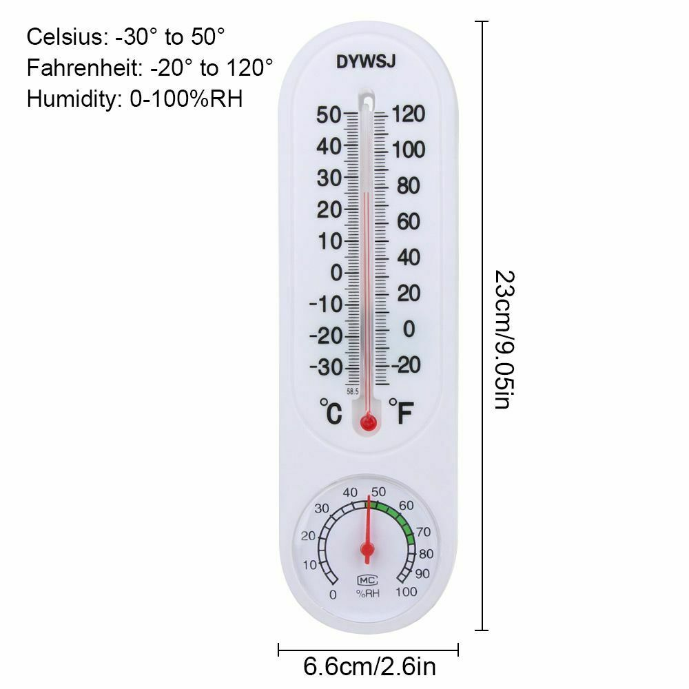 Wall Mounted Temp Meter Indoor Outdoor Temperature Thermometer Measurement Tool