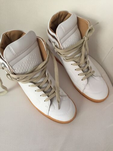 Leder Sneakers Maison Uk For Weiß Hm 40 9 Martin Us Margiela White 7 vNw0m8nO