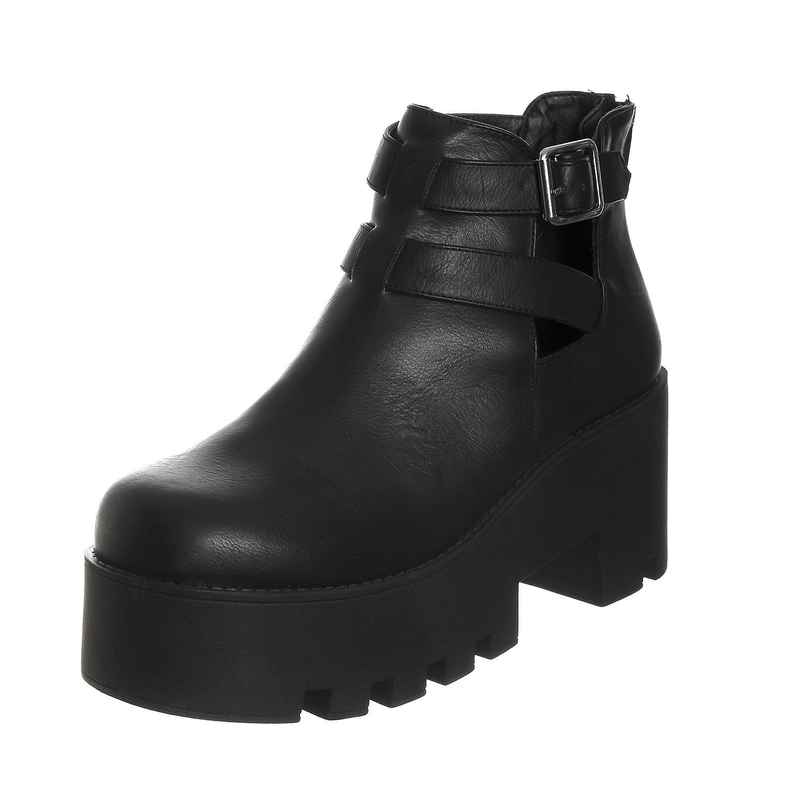 Lipstick shoes ankle boot Puffy-3 Black Black