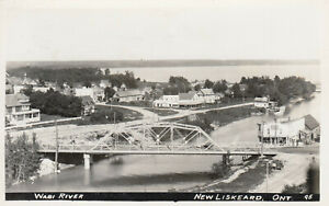 RP-NEW-LISKEARD-Ontario-1920-30s-Bridge-over-Wabi-River