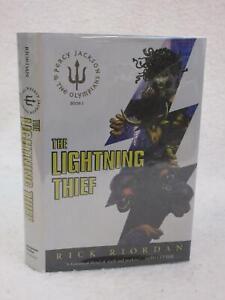 Rick-Riordan-THE-LIGHTNING-THIEF-2005-Miramax-Books-NY-2nd-Printing-HC-DJ
