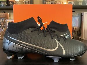 Nike Mercurial Superfly 7 Academy FG/MG Men's size 11.5 Soccer Cleats NEW Black