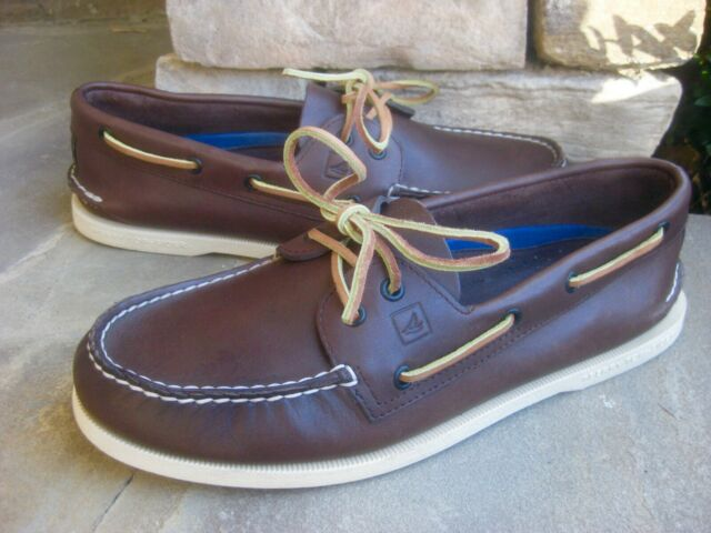 SPERRY TOP-SIDER Men's Authentic Original Leather Boat Shoe ~ Brown ~ 11M  NWOB