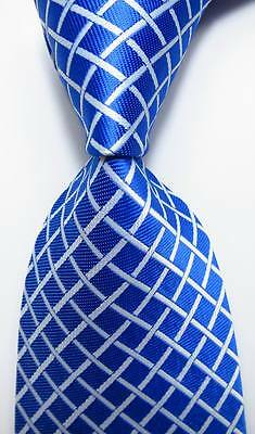 New Classic Checks Yellow Blue Pink JACQUARD WOVEN 100/% Silk Men/'s Tie Necktie