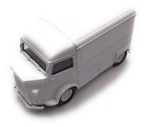 Citroen-Type-H-Model-Car-Box-Truck-Flatbed-Camper-White-Car-Scale-1-3-4