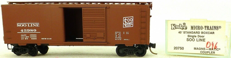 Micro Trains Ligne 20750 Soo Ligne 43980 40' Standard Boîte 1 160