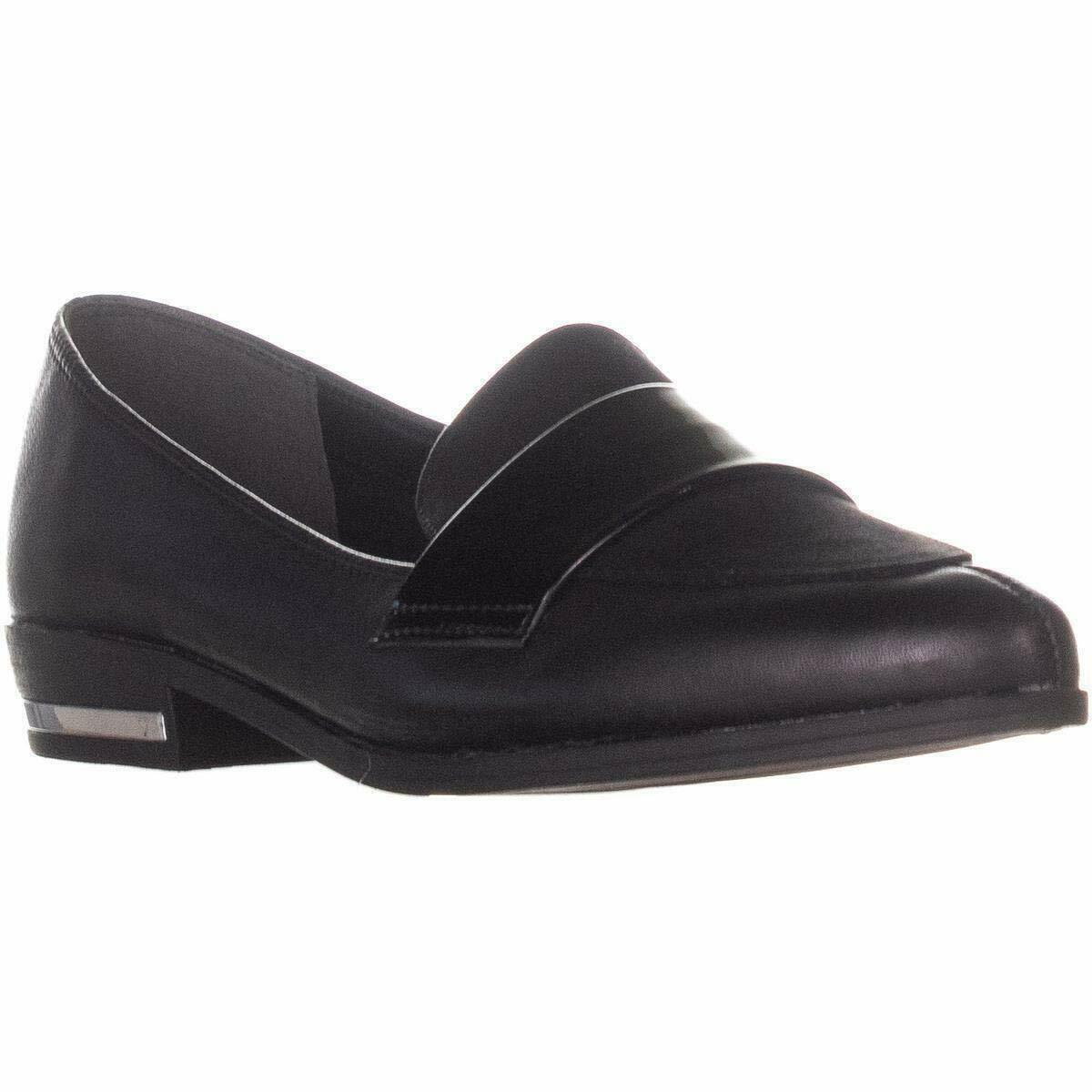 Bar III Womens Involve Pointed Toe Loafers, Black, Size 7.0 2Axn US