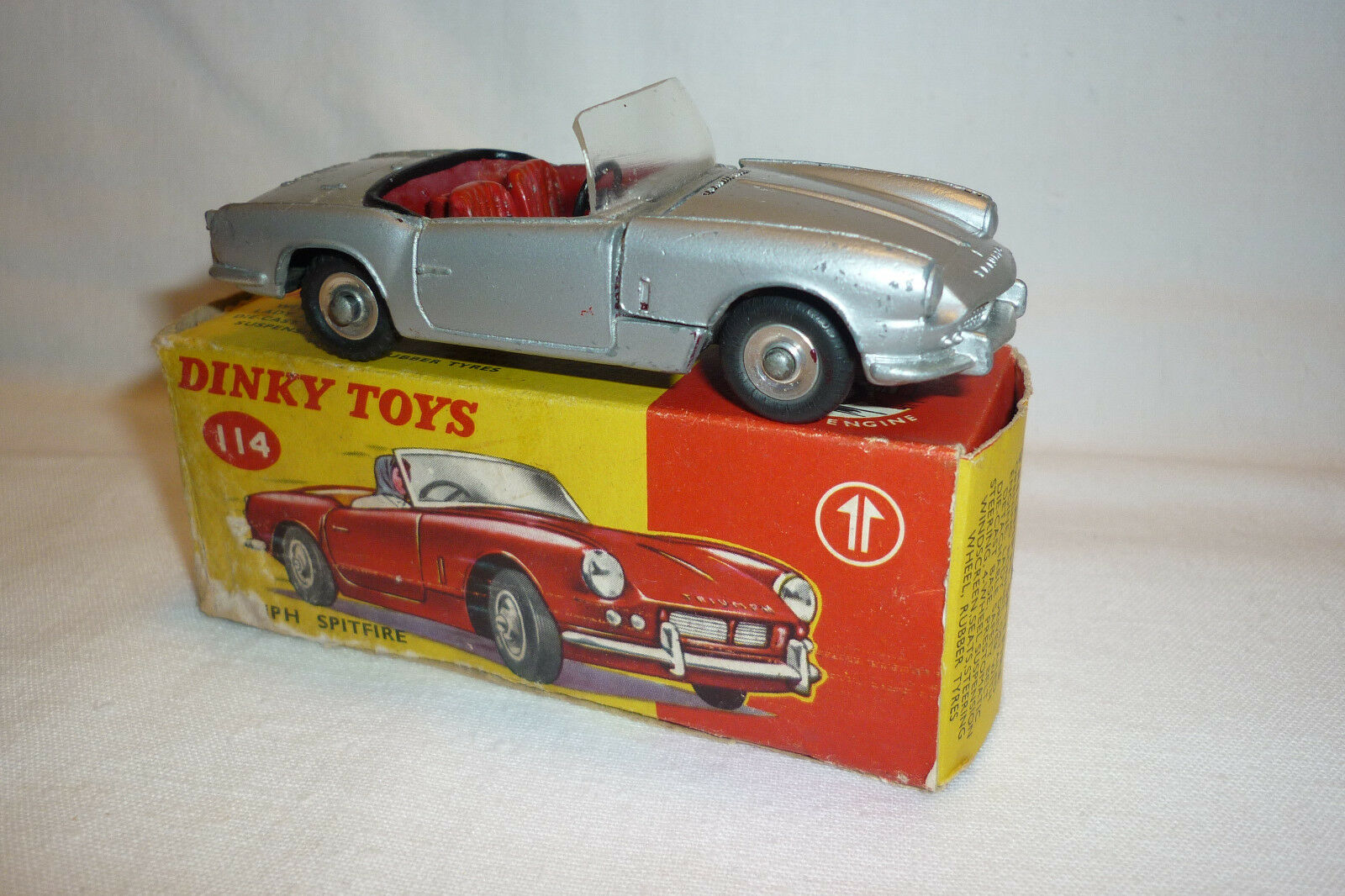 Dinky Toys - Vintage Metal Model - Triumph Spitfire No Replica Sealed (DINKY T