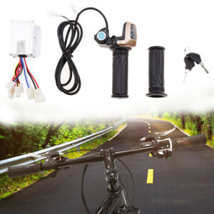 Brush-Speed-Motor-Controller-Throttle-Grip-Kit-For-Electric-Bike-Scooter-Tools