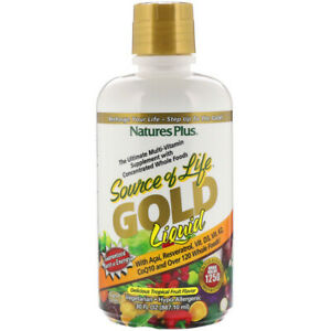 Natures Plus Source Of Life Gold Liquid Delicious Tropical
