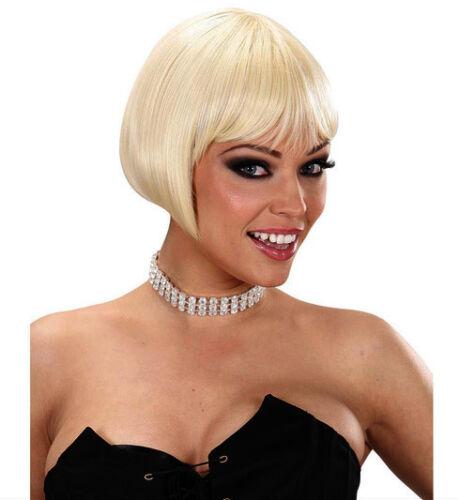Ladies 20s 30 Short Blonde Bob Wig Superior Quality Deluxe Dream Hair Fancy Dres