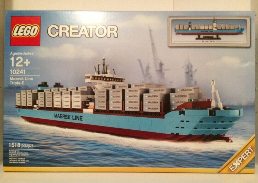 Lego 10241 Maersk Line  Triple-E Boat nouveau Retirouge 1518 Pieces  pas cher