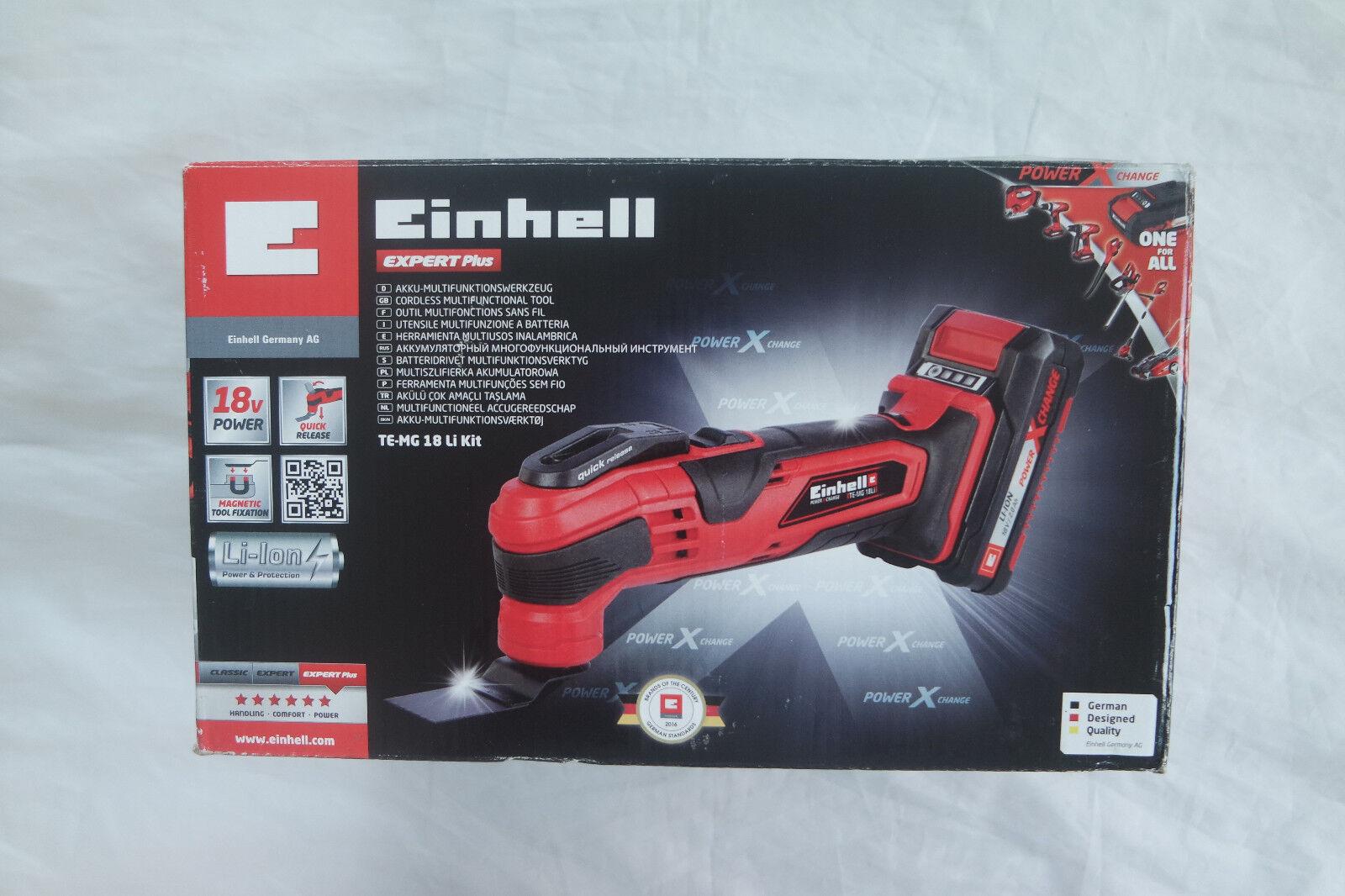 Einhell Akku-Multifunktionswerkzeug TE-MG 18 Li Kit (1x2,0Ah  Power X-Change