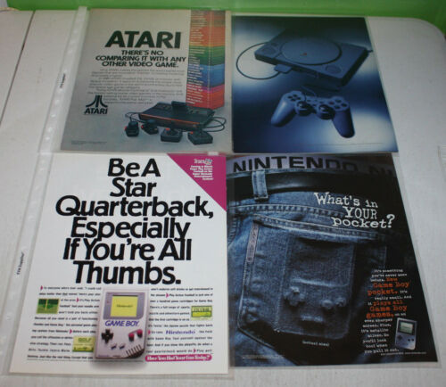Vintage Video Game System Store Accessory Advertising Print Ad PosterYou Pick