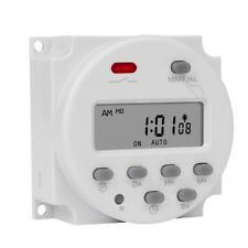 1 Second Interval 5v 12v 24v 110v 220v Digital Lcd Timer Switch Programmable New