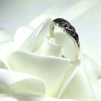 925 STERLING SILVER MARCASITE TWIST RING SIZE 8
