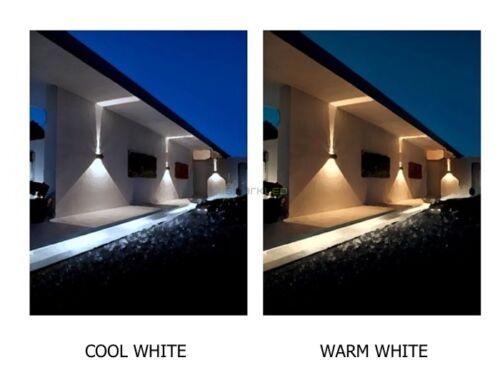Étincelait Up//Down Wall Light Avec//Sans Capteur PIR de Noir Argent