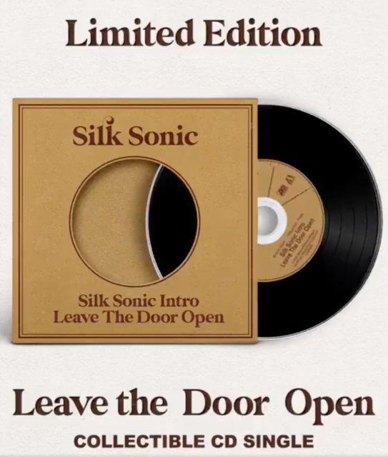 Silk Sonic Leave The Door Open CD Bruno Mars Limited Ed. In Hand - Sold Out!!!