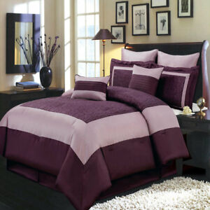 Chic Purple 8pc Wendy Comforter Set With Optional Matching