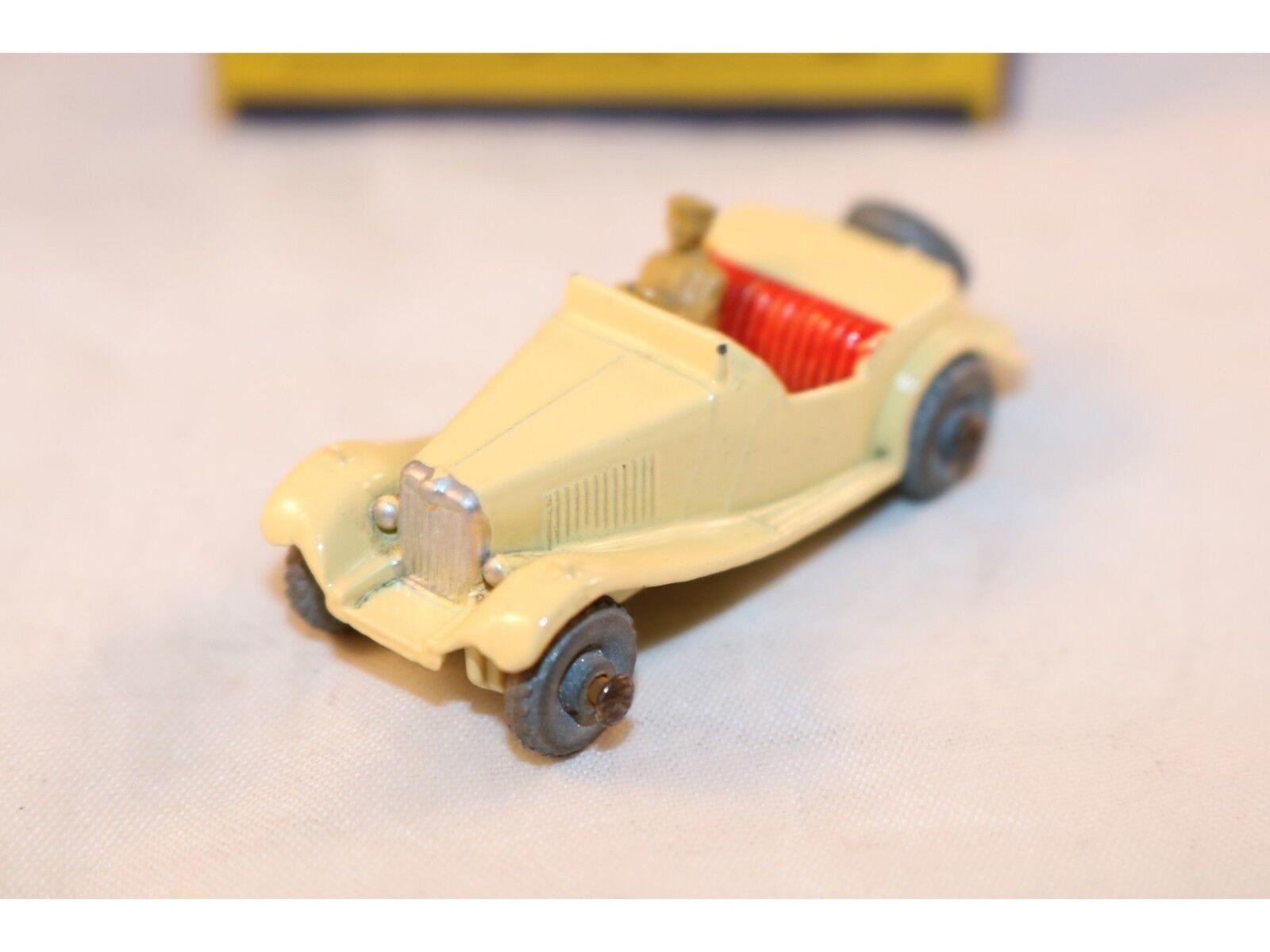 Matchbox A Moko Lesney No 19a 19 M.G. M.G. M.G. Sports car GMW yellow 99% mint in box 364b2e